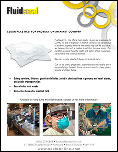 Clear plastics for protection against Covid-19 thumbnail